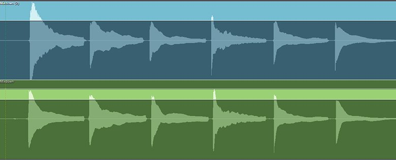 image depicting the output difference in two contrasting waveforms