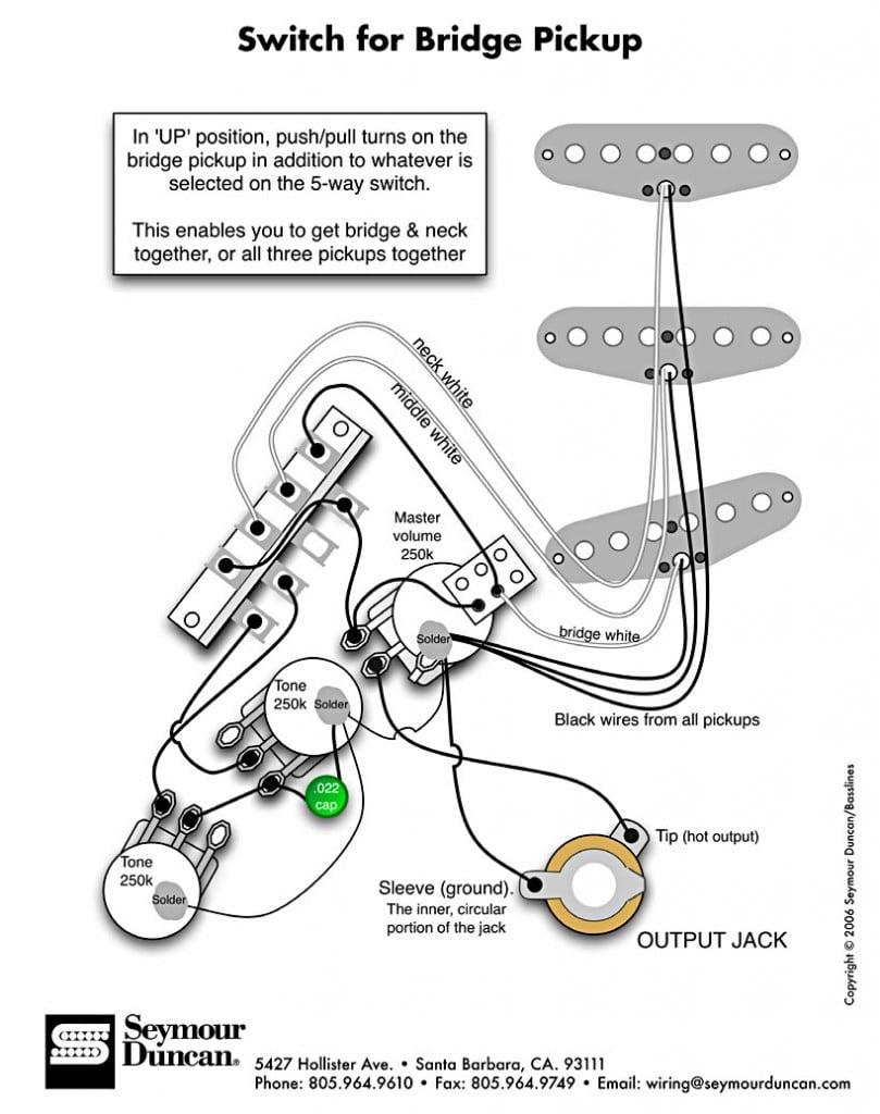Seymour Duncan Adding A Bridge Pickup Switch To A Strat - Guitar Pickups,  Bass Pickups, PedalsSeymour Duncan