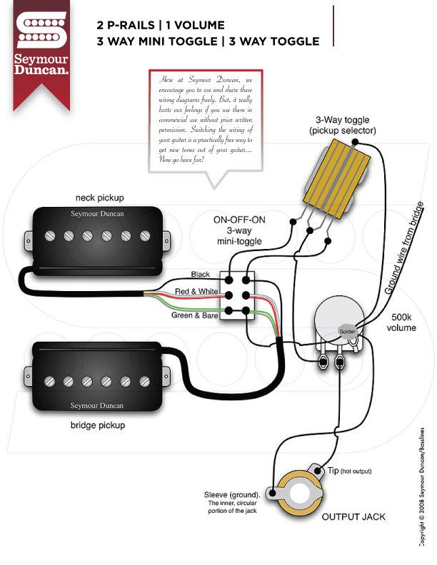 Seymour Duncan The P Rails Wiring Bible Part 3 Guitar