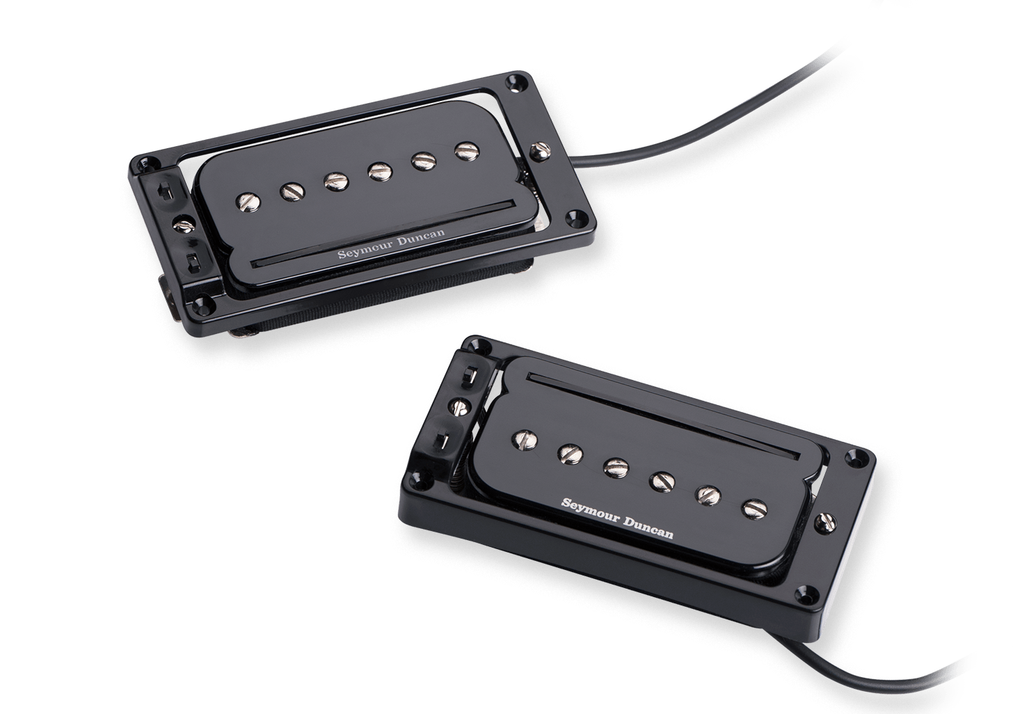 Seymour Duncan TS-2 Triple Shot Carved Top Pickup Mounting Ring Black Bridge