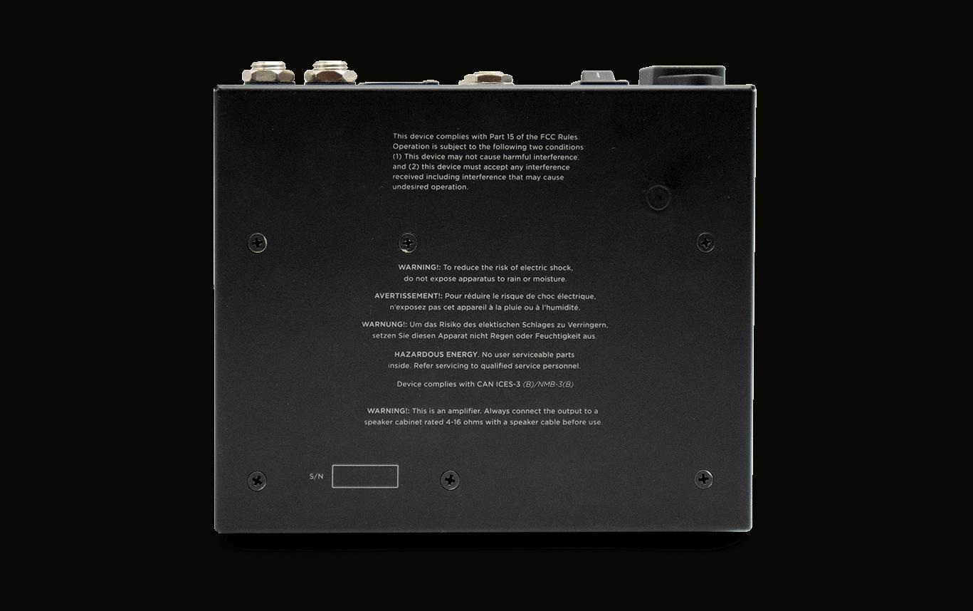 PS200 Pedal Amp back