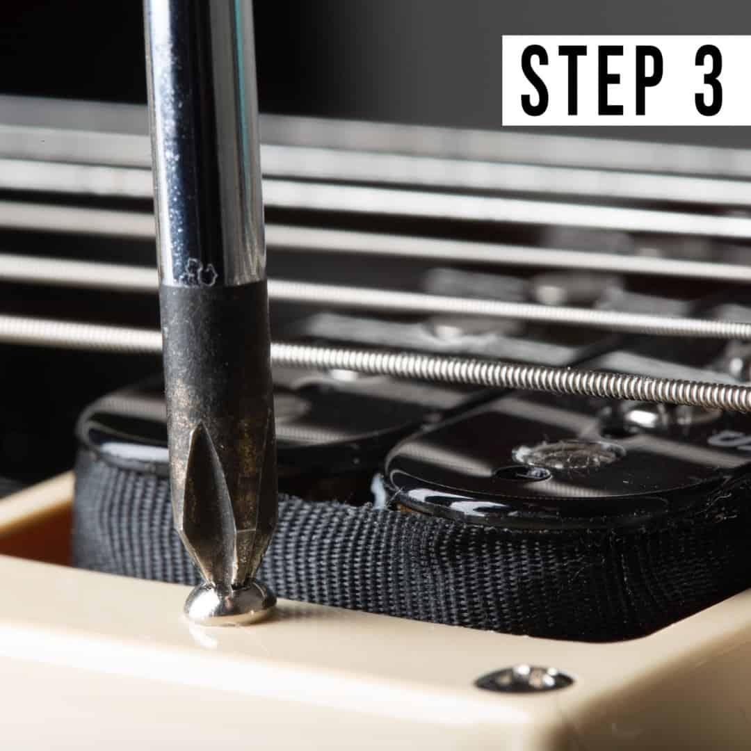 Step 3 - Raising or lowering pickup height